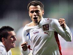 Libor Sionko se raduje z gólu.