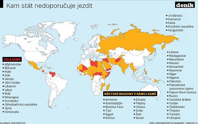 Nebezpečné země. Infografika