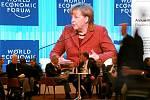 Angela Merkelová v Davosu