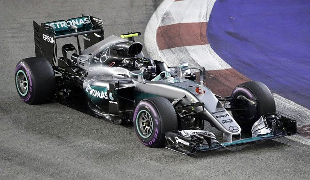 Nico Rosberg ve Velké ceně Singapuru.