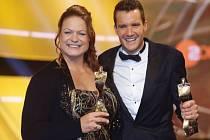 Němečtí sportovci roku koulařka Christina Schwanitzová a triatlonista Jan Frodeno.