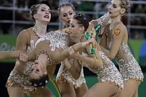 Ruské moderní gymnastky vyhrály popáté v řadě na OH víceboj družstev.