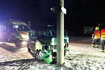 Kvůli sněhu došlo ve čtvrtek ráno k několika nehodám