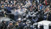Střet příznivců Saakašviliho a policie