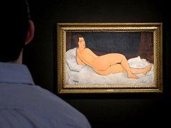 Modiglianiho akt se stal čtvrtým nejdražším obrazem všech dob, prodaným v aukci