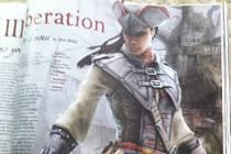 Nová hlavní hrdinka počítačové hry Assassin's Creed 3: Liberation na fotografii v časopise Game Informer.