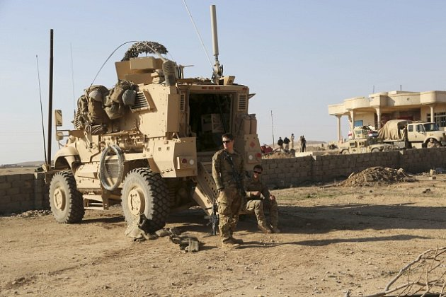 Američtí vojáci v iráckém Mosulu