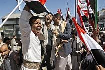 Protesty v Jemenu.