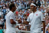 Rafael Nadal a Roger Federer