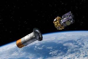 Katapultáž evropského navigačního systému Galileo na vitualizaci.