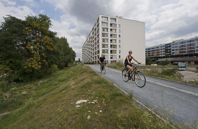 Cyklostezka v Karlíně