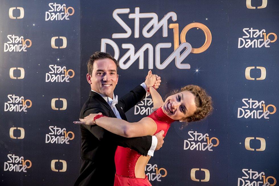 Tisková konference k 10. ročníku StarDance proběhla 10. září v Praze. Matouš Ruml a Natálie Otáhalová.