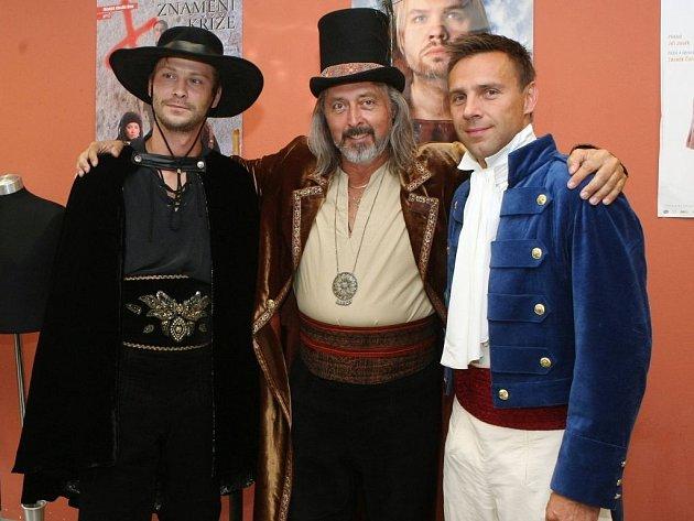 Muzikál Zorro mstitel: Marek Holý, Oldřich Kříž, Roman Vojtek