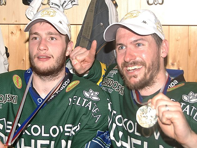 Hokejisté Karlových Varů vybojovali poprvé v historii klubu extraligový titul.