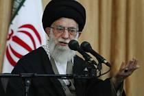Iránský nejvyšší duchovní vůdce ajatolláh Sejjed Alí Chameneí.