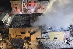 Požár domu pro seniory v Japonsku