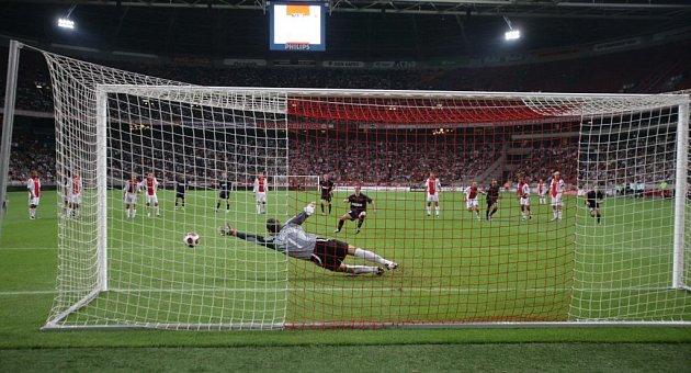 Fotbal - Slavia - Ajax - Kalivodův gól