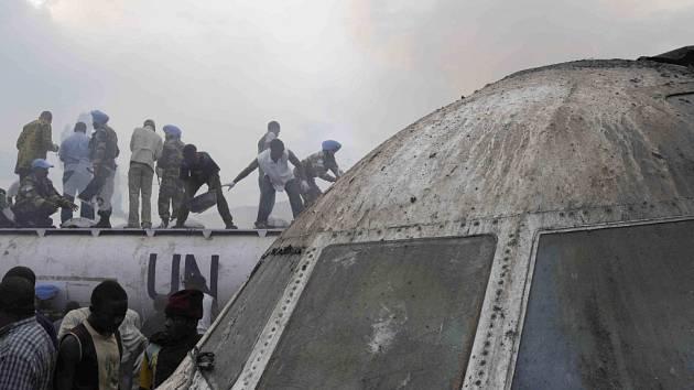 Havárie letounu DC-9 v Gomě podle konžských úřadů nebyla katastrofální.