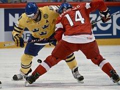 Tomáš Plekanec na buly v utkání proti Švédsku.