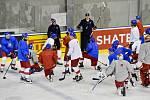 Trénink českých hokejistů v Bratislavě