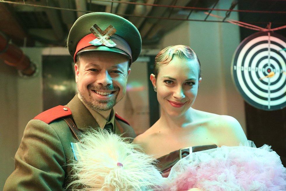 Viktor Dvořák v divadelním představení Diktátor