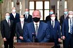 Ministr zdravotnictví Roman Prymula (za ANO) vystoupil s televizním projevem k přijatým vládním opatřením proti šíření koronaviru.