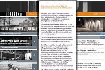 Internetová stránka www.buchenwald.de s upozorněním o omezeném přístupu