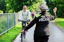 Kontrola cyklistů - ilustrační foto
