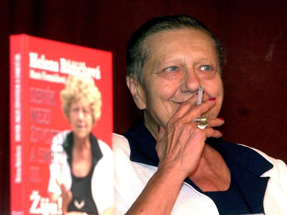 Herečka Helena Růžičková.
