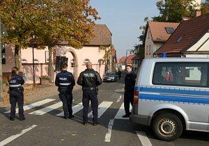 Městečko Kirchheim. Zásah německé policie.