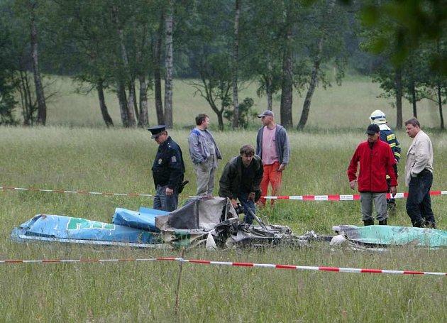 Nehoda ultralightu v plzeňském kraji.