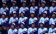Fanynky KLDR na olympijských hrách v Pchjongčchangu.
