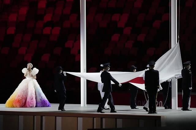 Zahájení olympijských her v Tokiu.