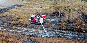 Požár vřesovišť nedaleko Meppenu zažehly testy raket