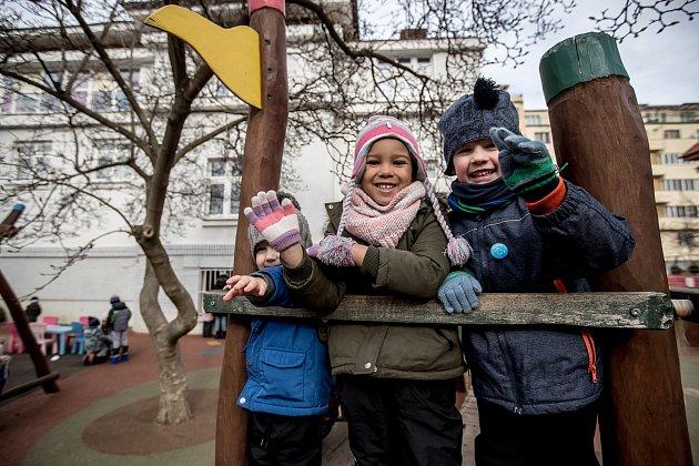 Mateřská škola Bambíno, 12. února v Praze.