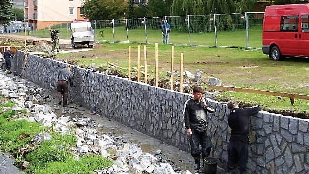 Oprava koryta Příbramského potoka