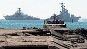 Rusko blokovalo průjezd Kerčským průlivem do Azovského moře.