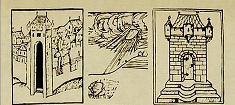Podle kronik zazněla vysoko nad městečkem Ensisheim silná exploze a dítě pak uvidělo padat kámen do pole