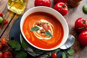 Rajská polévka s kapáním