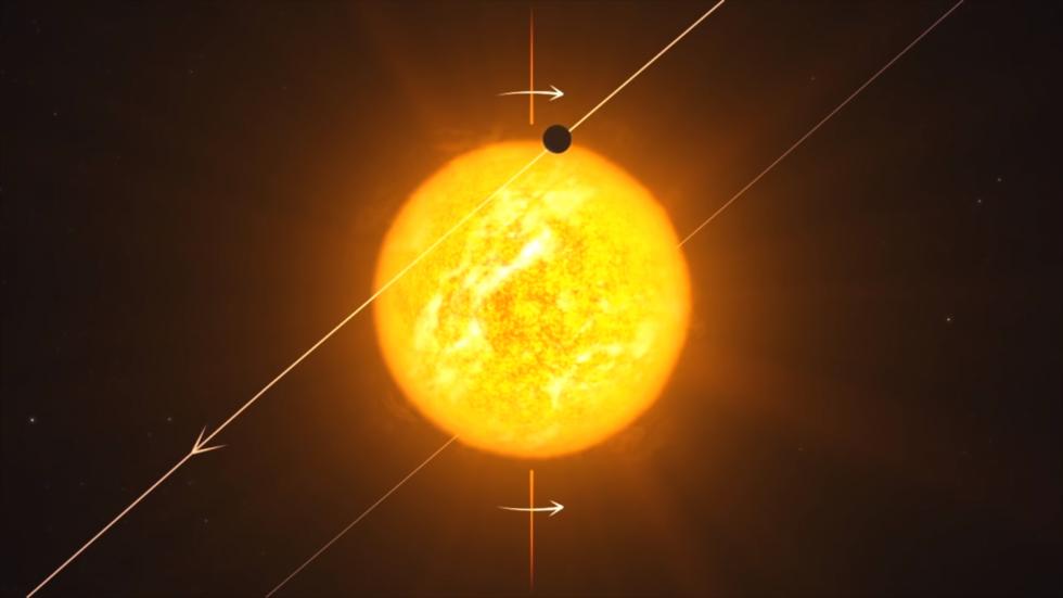 Vizualizace objevu nové exoplanety