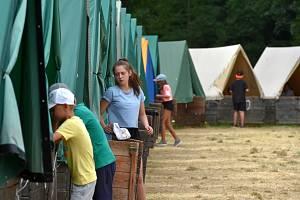 Dětský letní tábor. Ilustrační snímek