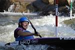 Kajakářka Štěpánka Hilgertová v semifinále MS v Deep Creeku.