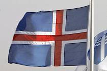Vlajka Islandu.