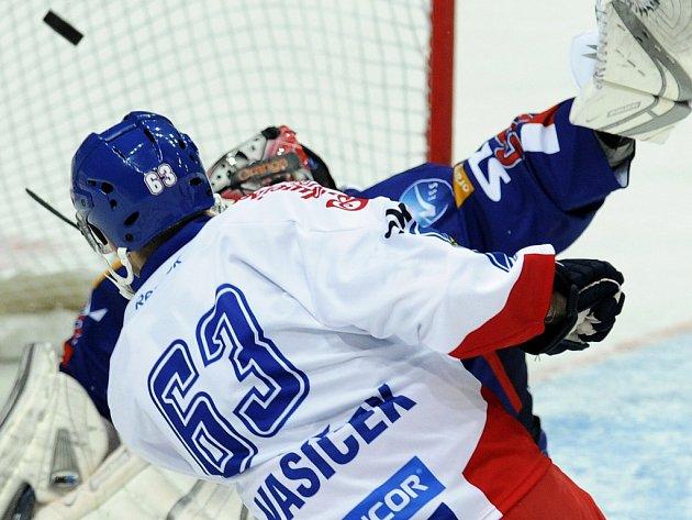 Josef Vašíček během zápasu se Slovenskem.