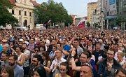 Demonstrace v Bratislavě. Ilustrační snímek