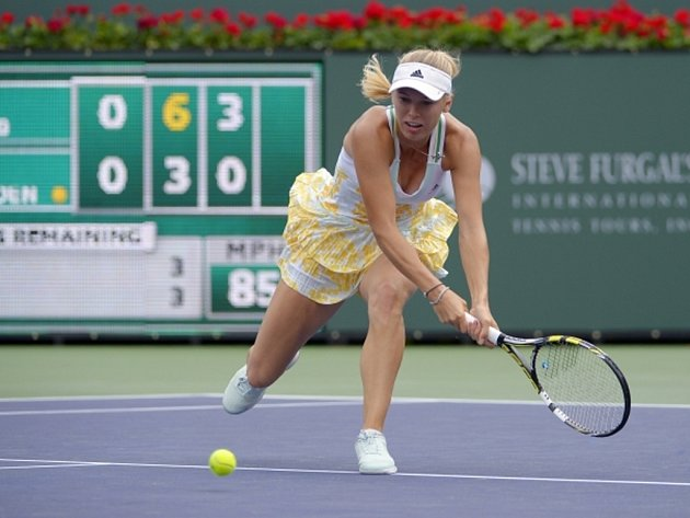 Caroline Wozniacká na turnaji v Indian Wells.