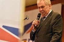 Prezident Miloš Zeman vystoupil na programové konferenci Strany Práv Občanů (SPO), která se konala 7. listopadu v Praze.
