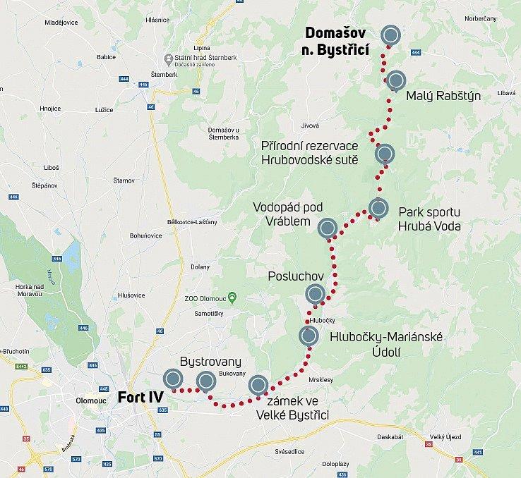 Trasa výletu