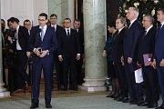 Polský premiér Morawiecki na ceremonii jmenování nových ministrů ve Varšavě