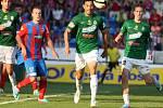 Fotbalisté Jablonce (v zeleném) v Superpoháru proti Plzni.